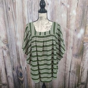 Time and Tru Stripe Blouse Size 3X